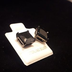Jewelry - Black Onyx Stone Sterling Silver Earrings